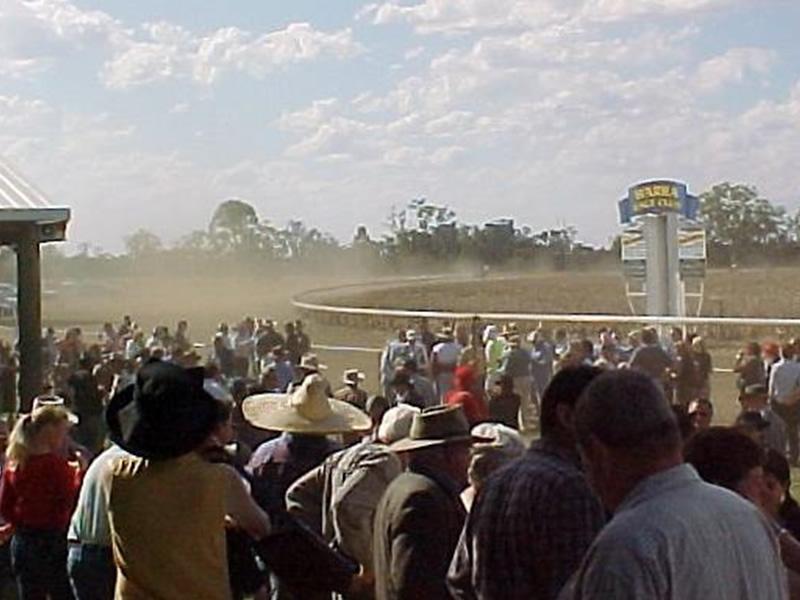 Warra Horse Racing Crowd